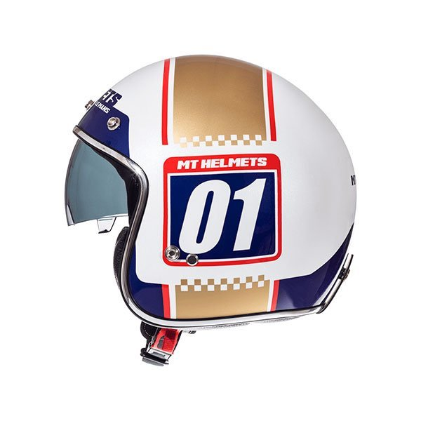 Casco MT Le Mans 2 SV Numberplate A0 Oro