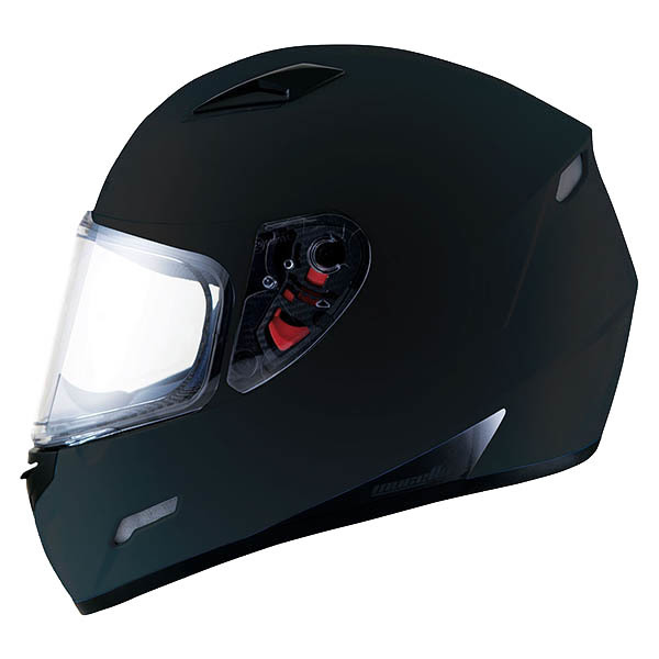 Casco MT Mugello Negro Mate lateral