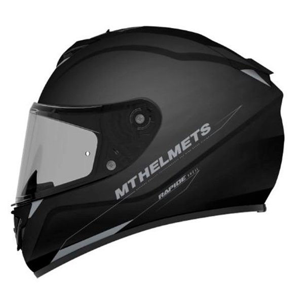 Casco MT Rapide Solid A1 negro brillo