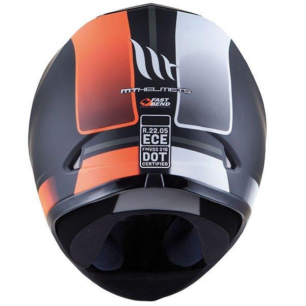 Casco MT Revenge Binomy Negro Blanco Naranja-1
