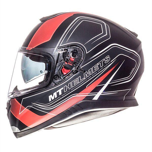 Casco MT Thunder 3 SV Trace negro rojo