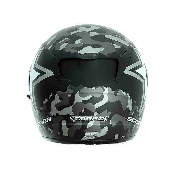 Casco Scorpion Exo-390 Army Negro Gris Mate