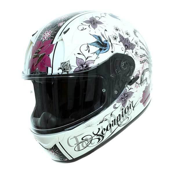 negro//rosa Scorpion Casco de moto Exo 390 Chica talla S