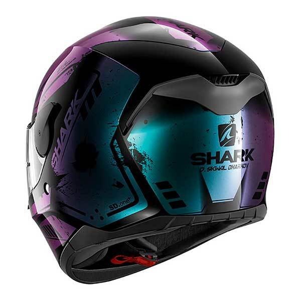 Casco Shark D-Skwal Dharkov Negro Violeta