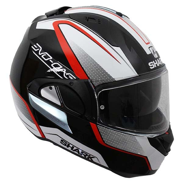 Casco Shark Evo-One Astor Negro Blanco Rojo2