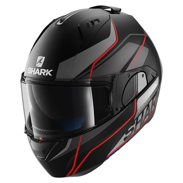 Casco Shark Evo-One Krono negro rojo