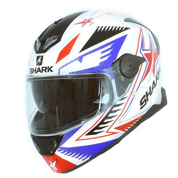 Casco Shark Skwal 2 Draghal Blanco Azul Rojo