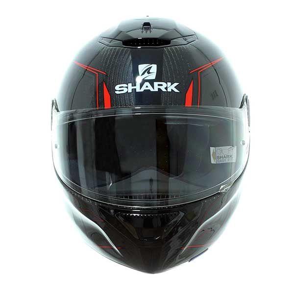 Casco Shark Spartan Carbon 1.2 Silicium Negro Rojo