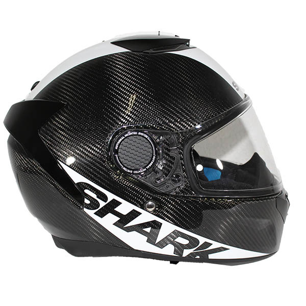 Casco Shark Spartan Carbon Blanco Lateral
