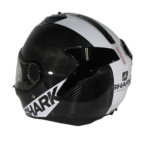 casco shark spartan carbon blanco. Black Bedroom Furniture Sets. Home Design Ideas