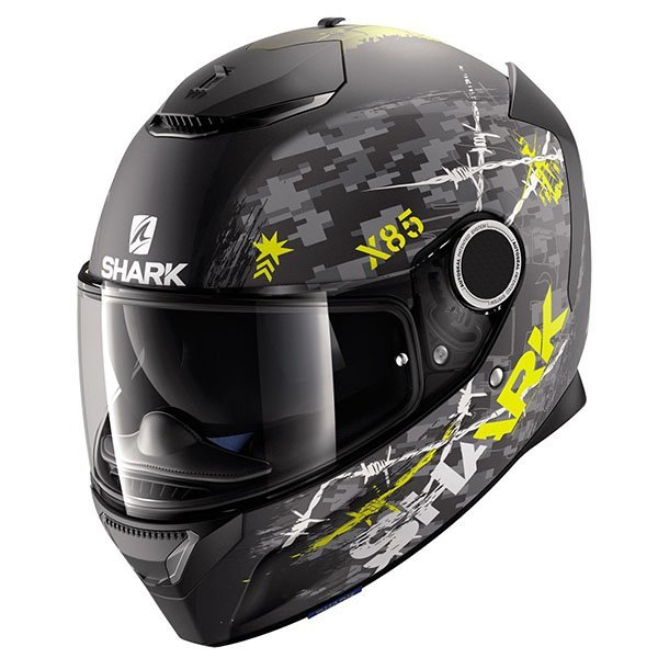 Casco Shark Spartan Rughed Amarillo Mate
