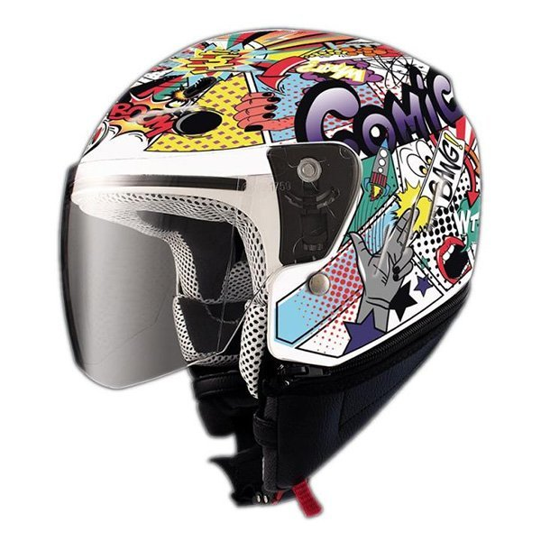 Casco Shiro SH20 Comic Kid II Blanco