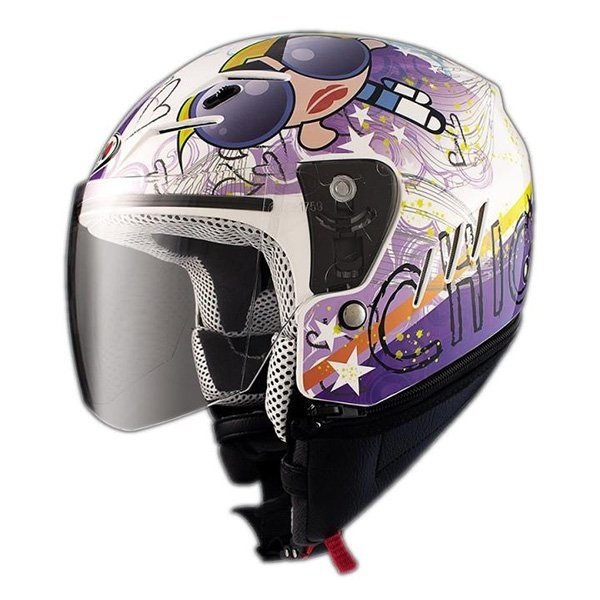 Casco Shiro SH20 Tres Kid II Blanco