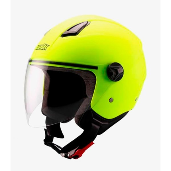 Casco Unik Cj-16 Amarillo Fluor Mate
