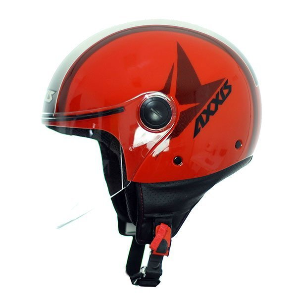 Casco jet Axxis Square Flag B5 Rojo