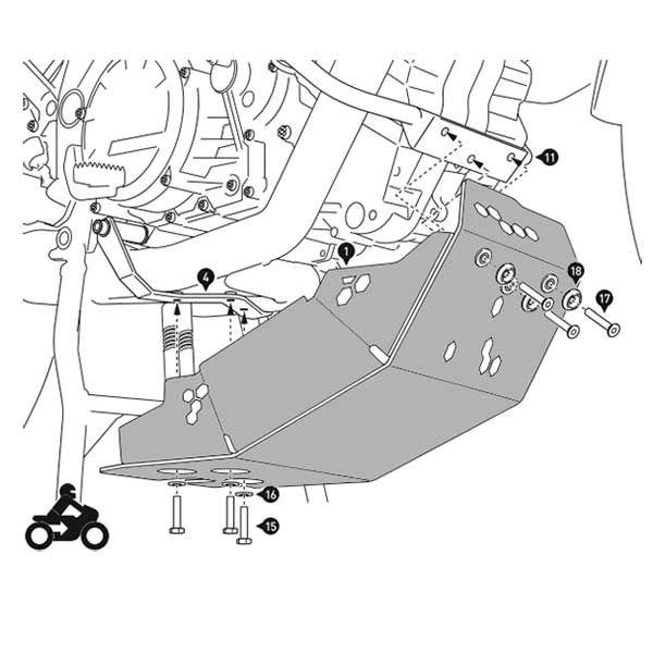 Cubrecarter SW Motech 1190 Adventure Negro y Plata
