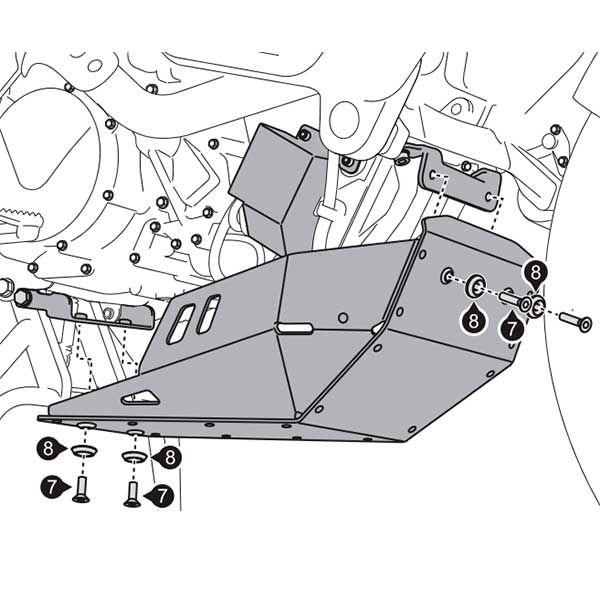 Cubrecarter SW Motech 950-990 Adventure Negro