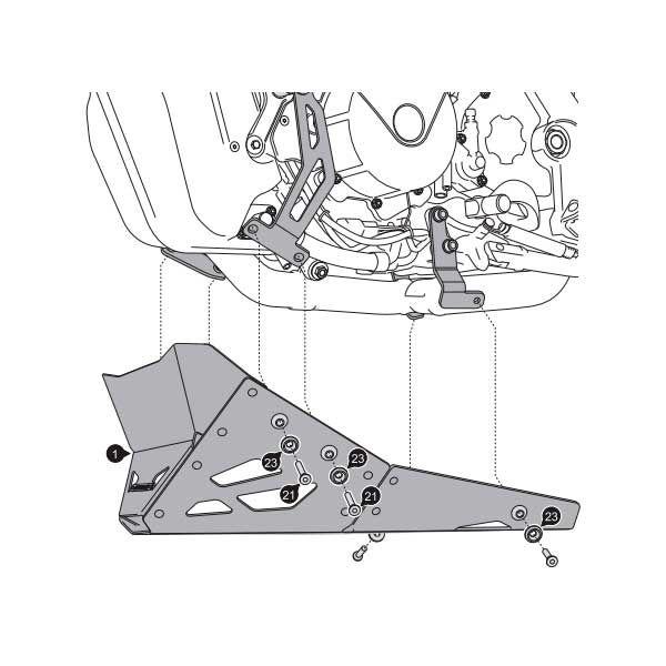 Cubrecarter SW Motech KTM 950-990 SM R