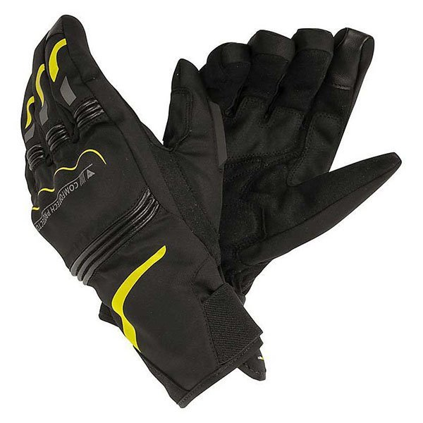 Guantes Dainese Tempest D-Dry Short Negro Amarillo