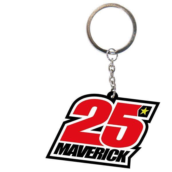 Llavero Maverick Viñales 25 Rojo Blanco1