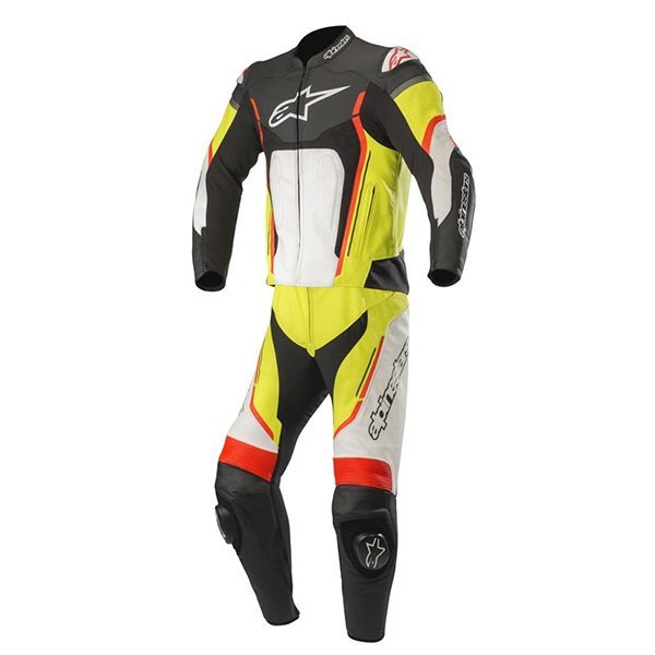 Mono Alpinestars Motegi V2 2pc Negro Blanco Amaril