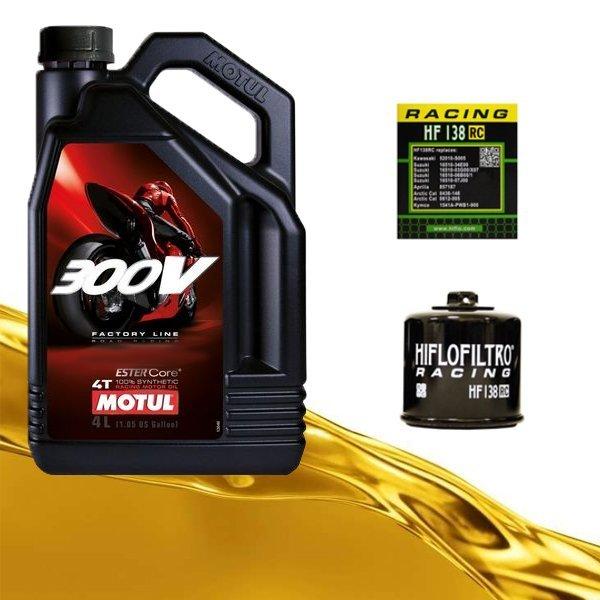 Pack Motul 300V y filtro de aceite HF138RC