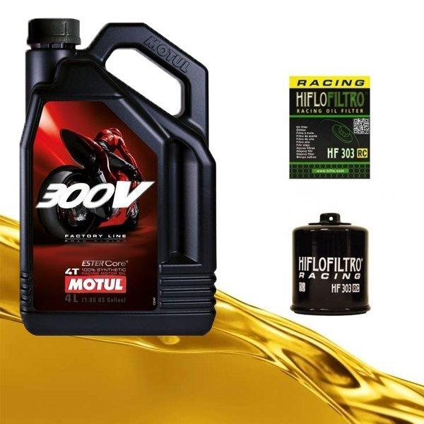 Pack Motul 300v y filtro de aceite HF303RC
