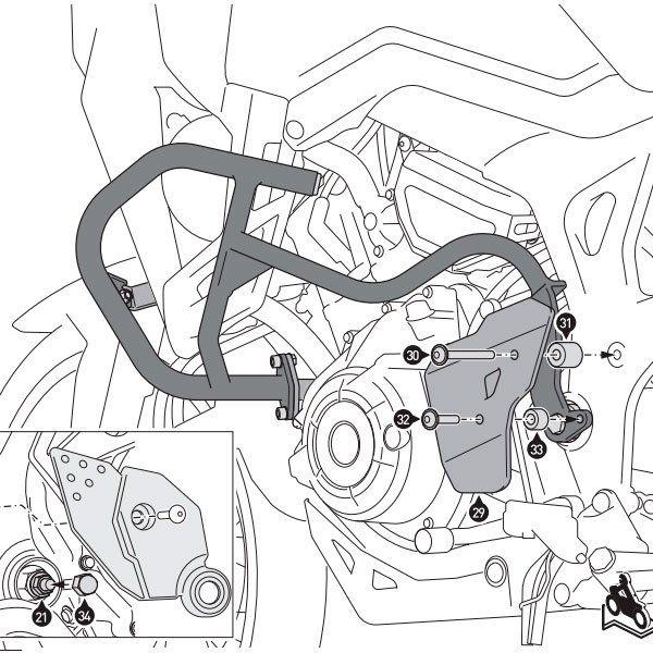 Protecciones laterales SW Motech Honda CRF1000L Ne