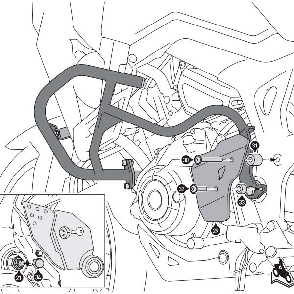 Protecciones laterales SW Motech Honda CRF100L
