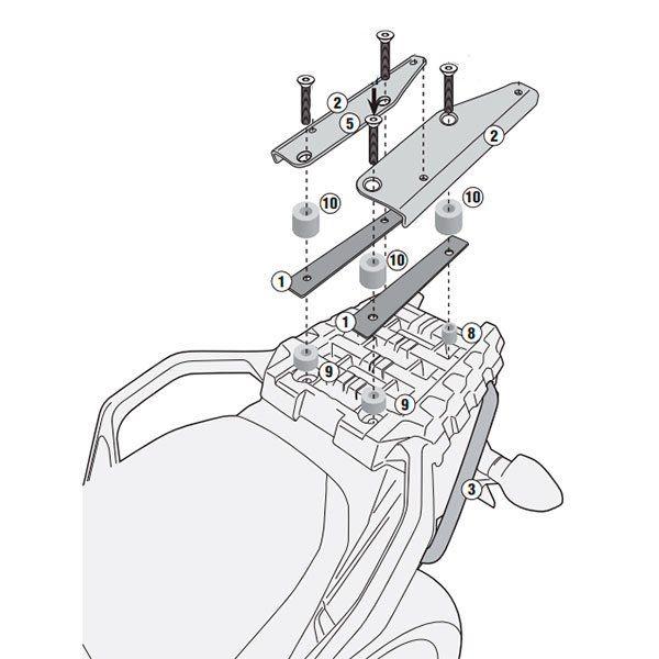 Soporte Baul Givi Monokey Suzuki DL 1000 v-Strom