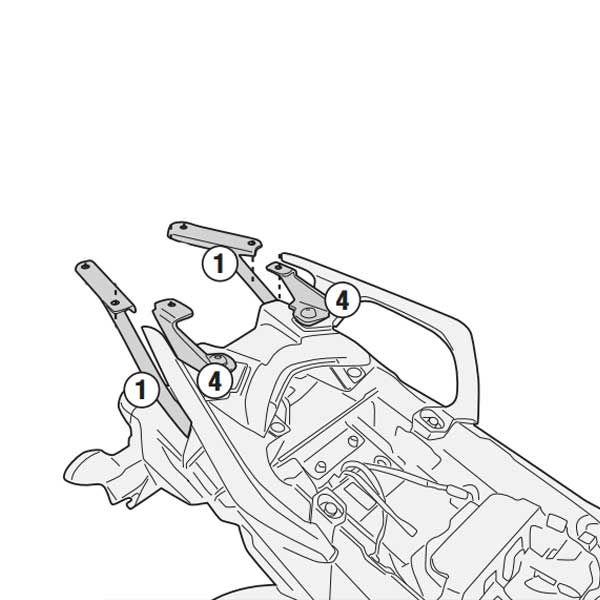 Soporte Baul Givi Monokey Yamaha Trace 900 2018
