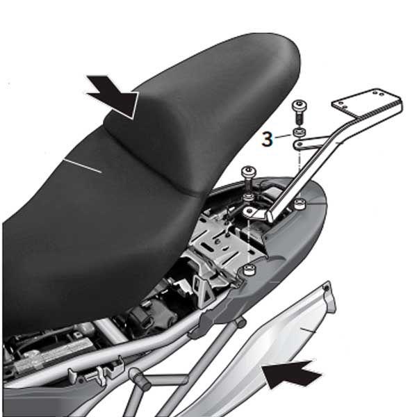 Soporte Baul Shad Para Kawasaki Versys 650 2007 K0