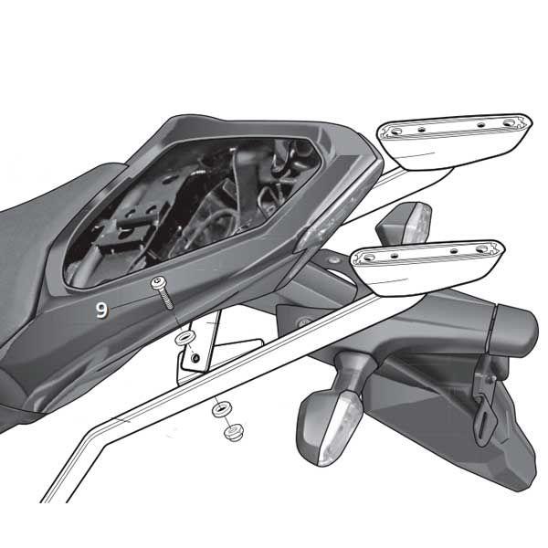 Soporte Baul Shad Para Kawasaki Z800 K0Z883ST
