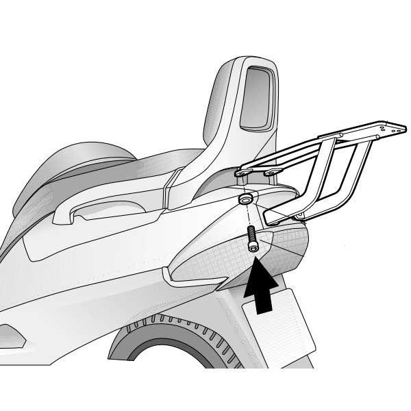 Soporte Baul Shad Para Suzuki Burgman 200 2001 S0S
