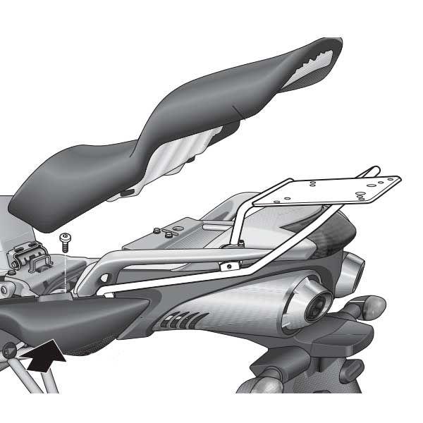 Soporte Baul Shad Para Yamaha Fazer 600 Y0FZ64ST