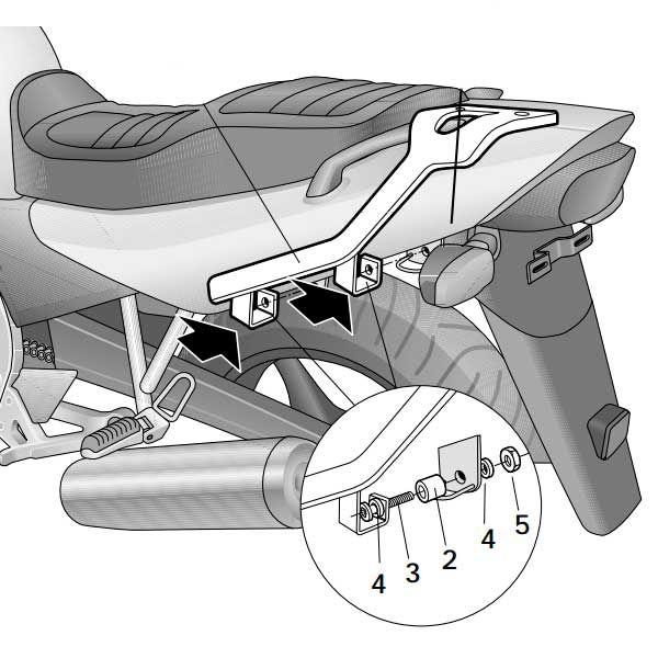 Soporte Baul Shad Para Yamaha XJ600 Y0XJ66ST