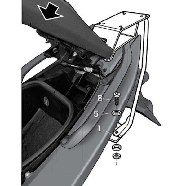 Soporte baul Shad Para Yamaha T-Max 530 Y0TM52ST