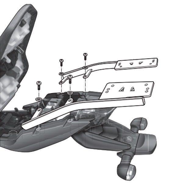 Soporte baul Shad Para Yamaha XJ600 Y0XJ69ST