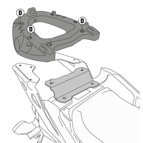 Soporte de baul Givi MT09 Tracer SR2122