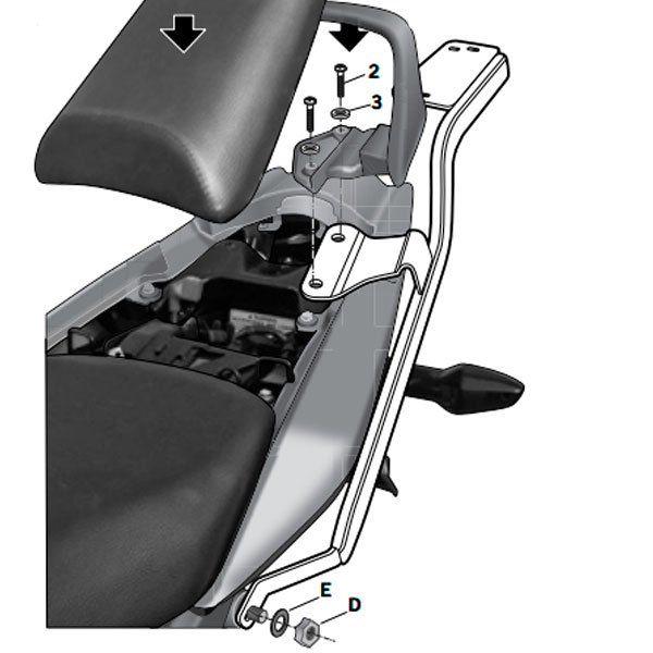 Soporte de baul Shad para Honda CBF125 H0CB19ST
