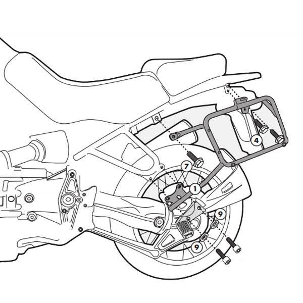 Soporte maletas Givi Monokey para BMW R1150GS PL18